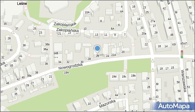Gdynia, Nowogrodzka, 26, mapa Gdyni