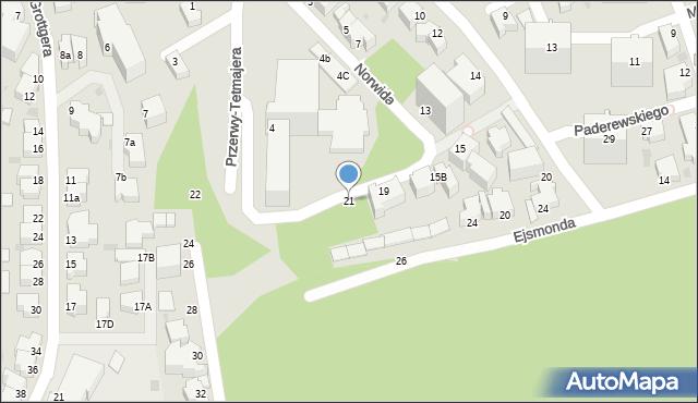 Gdynia, Norwida Cypriana Kamila, 21, mapa Gdyni