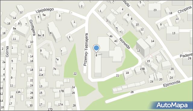 Gdynia, Norwida Cypriana Kamila, 4, mapa Gdyni