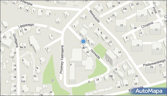 Gdynia, Norwida Cypriana Kamila, 4b, mapa Gdyni