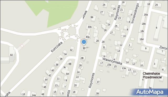 Grudziądz, Norwida Cypriana Kamila, 30, mapa Grudziądza