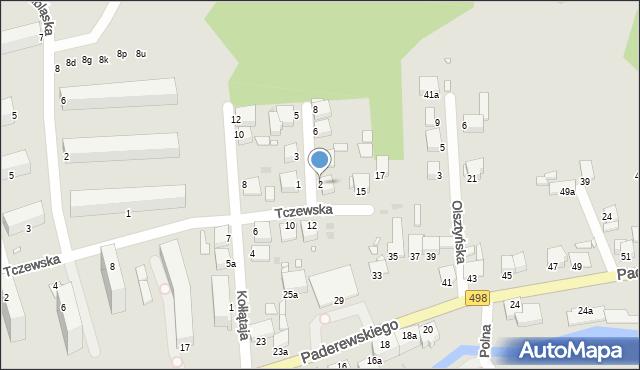 Grudziądz, Nowowiejska, 2, mapa Grudziądza