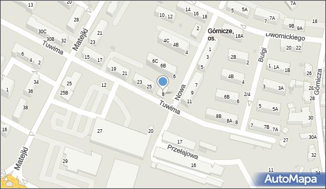 Jaworzno, Nowa, 8, mapa Jaworzno