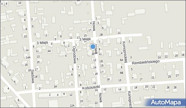Jedwabne, Nowa, 10, mapa Jedwabne