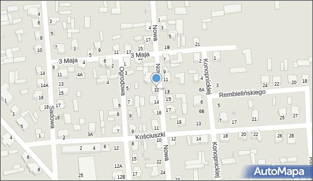 Jedwabne, Nowa, 12, mapa Jedwabne