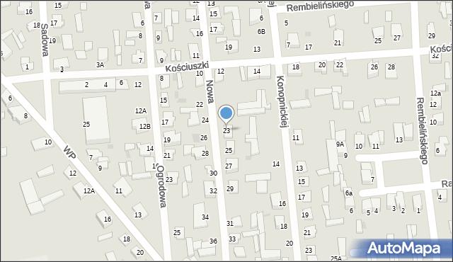 Jedwabne, Nowa, 23, mapa Jedwabne