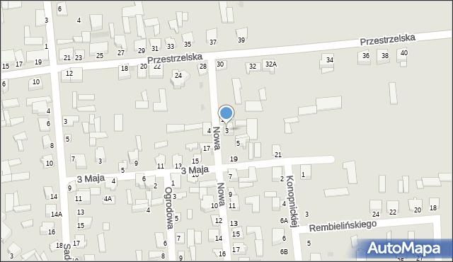 Jedwabne, Nowa, 3, mapa Jedwabne