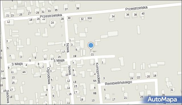 Jedwabne, Nowa, 5a, mapa Jedwabne