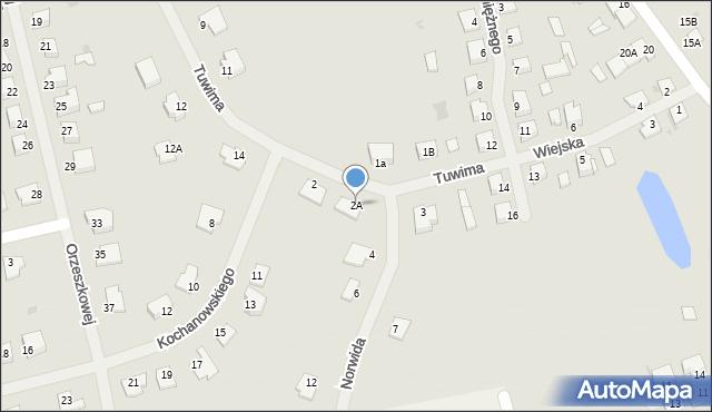 Kętrzyn, Norwida Cypriana Kamila, 2A, mapa Kętrzyn