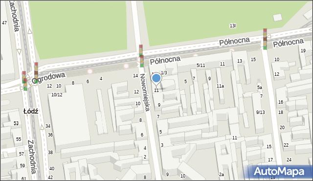 Łódź, Nowomiejska, 11, mapa Łodzi