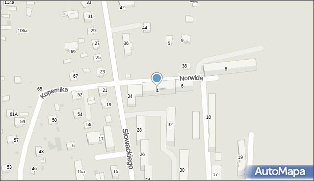 Lubaczów, Norwida Cypriana Kamila, 4, mapa Lubaczów