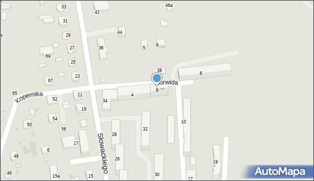 Lubaczów, Norwida Cypriana Kamila, 6, mapa Lubaczów