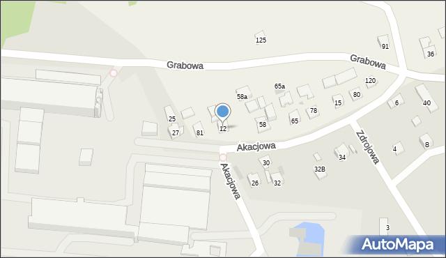 Nowa Wieś, Nowa Wieś, 12, mapa Nowa Wieś