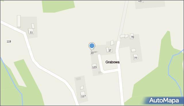 Nowa Wieś, Nowa Wieś, 13, mapa Nowa Wieś