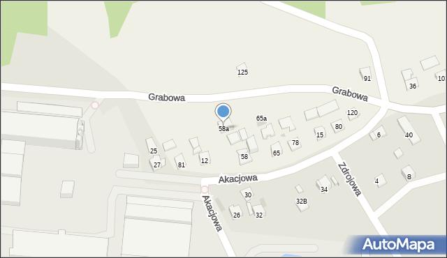 Nowa Wieś, Nowa Wieś, 58a, mapa Nowa Wieś