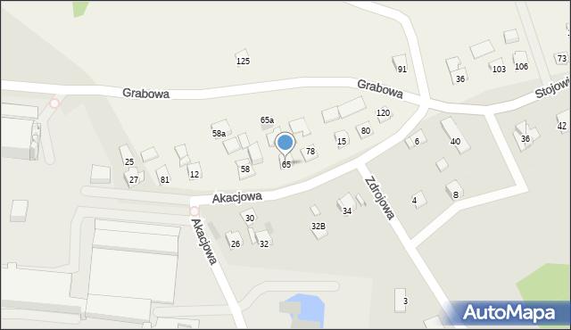 Nowa Wieś, Nowa Wieś, 65, mapa Nowa Wieś