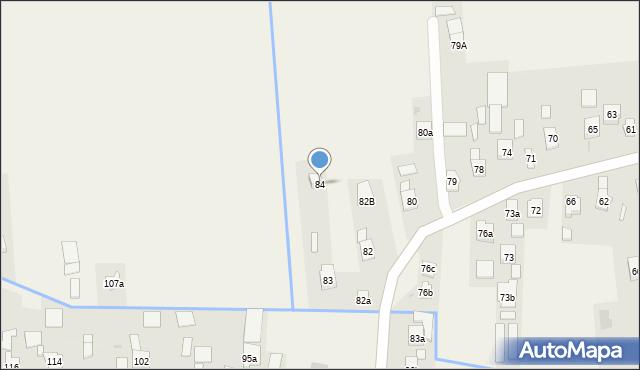 Nowa Wieś, Nowa Wieś, 84, mapa Nowa Wieś
