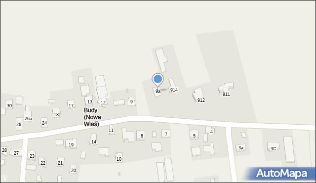Nowa Wieś, Nowa Wieś, 9a, mapa Nowa Wieś