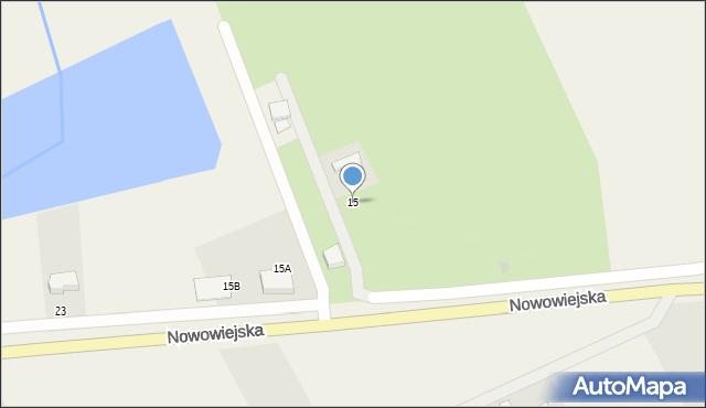 Nowa Wieś Ełcka, Nowowiejska, 15, mapa Nowa Wieś Ełcka