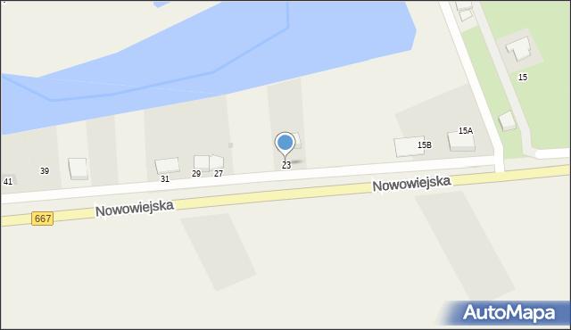 Nowa Wieś Ełcka, Nowowiejska, 23, mapa Nowa Wieś Ełcka