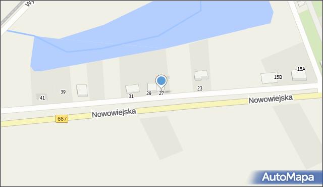 Nowa Wieś Ełcka, Nowowiejska, 27, mapa Nowa Wieś Ełcka