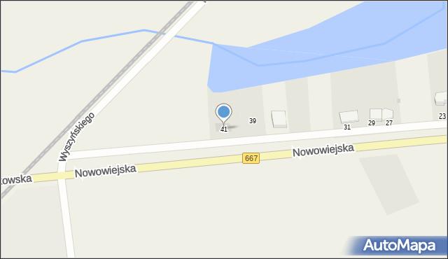 Nowa Wieś Ełcka, Nowowiejska, 41, mapa Nowa Wieś Ełcka