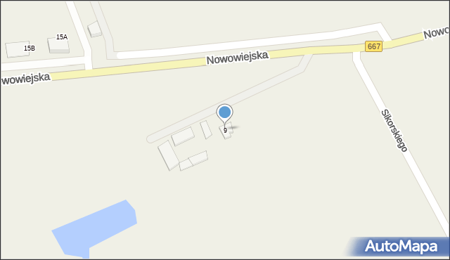 Nowa Wieś Ełcka, Nowowiejska, 9, mapa Nowa Wieś Ełcka