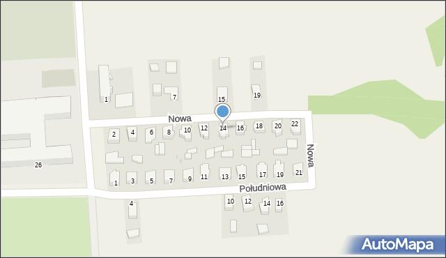 Nowy Kamień, Nowa, 14, mapa Nowy Kamień