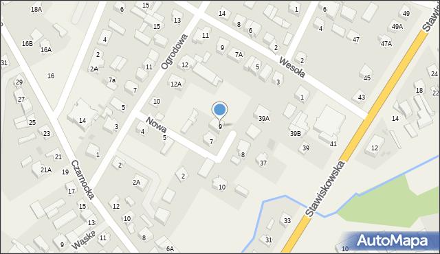 Piątnica Poduchowna, Nowa, 9, mapa Piątnica Poduchowna