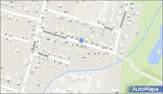 Radom, Nowospacerowa, 23, mapa Radomia