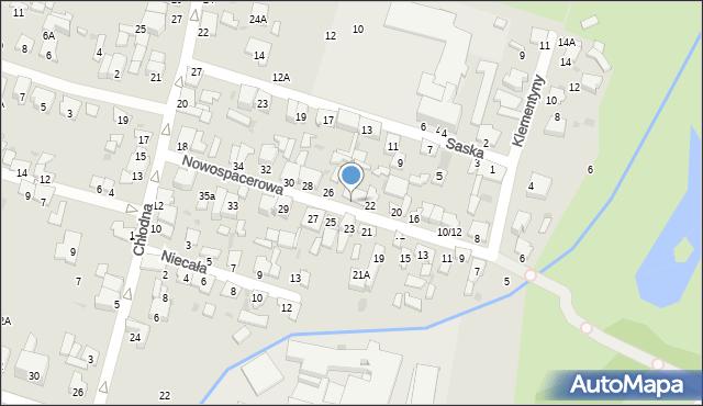 Radom, Nowospacerowa, 24/22, mapa Radomia