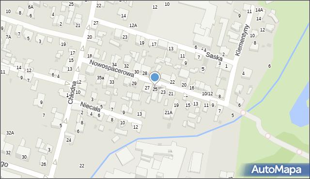 Radom, Nowospacerowa, 25, mapa Radomia