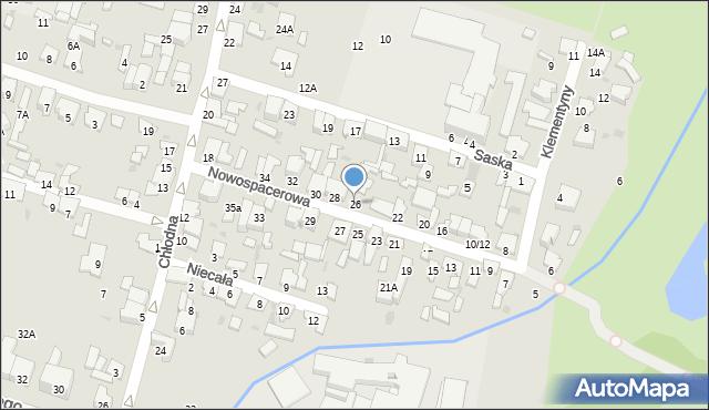 Radom, Nowospacerowa, 26, mapa Radomia