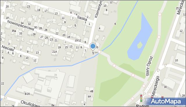 Radom, Nowospacerowa, 5, mapa Radomia