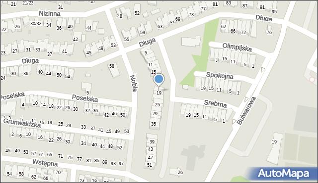 Radom, Nobla Alfreda, 19, mapa Radomia