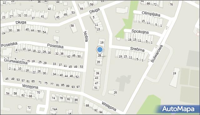 Radom, Nobla Alfreda, 31, mapa Radomia