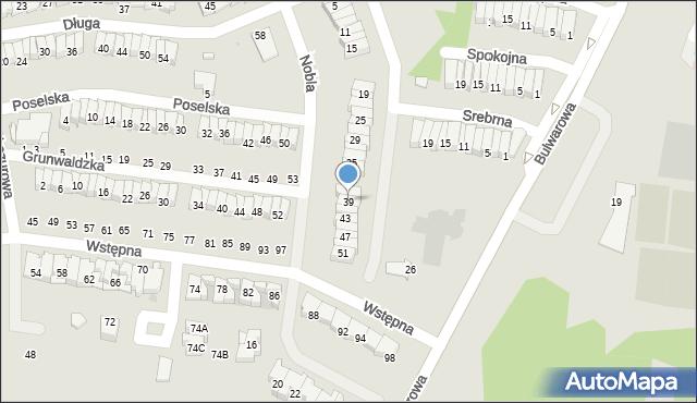 Radom, Nobla Alfreda, 39, mapa Radomia