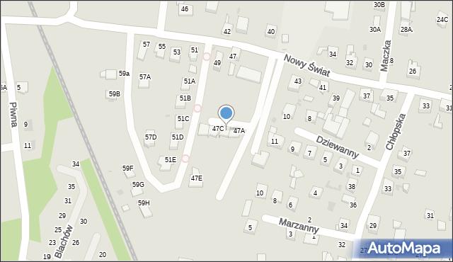 Ruda Śląska, Nowy Świat, 47B, mapa Rudy Śląskiej