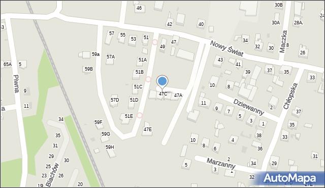 Ruda Śląska, Nowy Świat, 47C, mapa Rudy Śląskiej