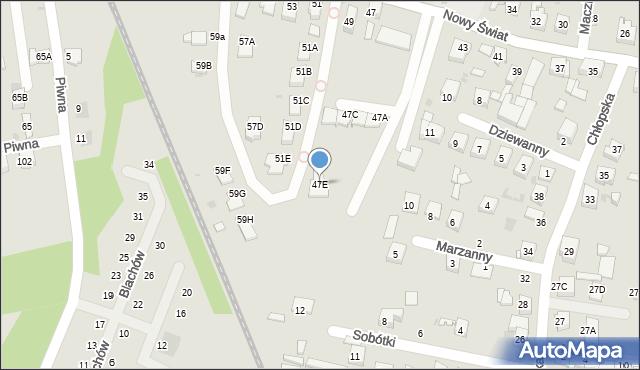 Ruda Śląska, Nowy Świat, 47E, mapa Rudy Śląskiej