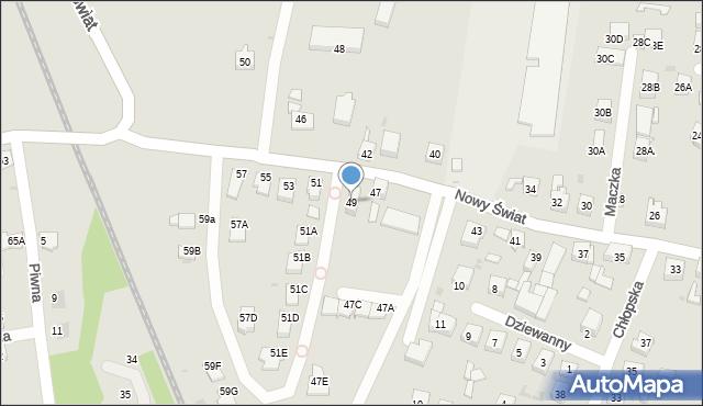 Ruda Śląska, Nowy Świat, 49, mapa Rudy Śląskiej