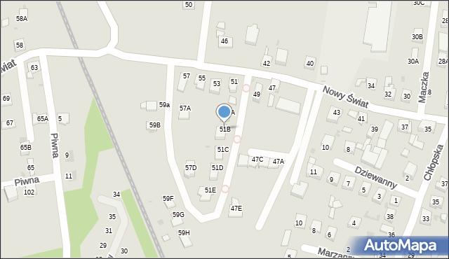 Ruda Śląska, Nowy Świat, 51B, mapa Rudy Śląskiej