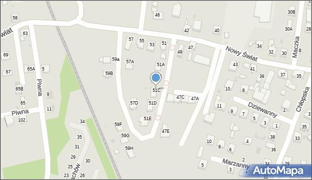 Ruda Śląska, Nowy Świat, 51C, mapa Rudy Śląskiej
