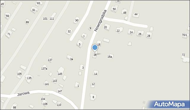 Rzeszów, Nowogrodzka, 16, mapa Rzeszów