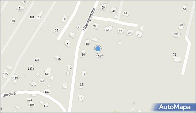 Rzeszów, Nowogrodzka, 16a, mapa Rzeszów
