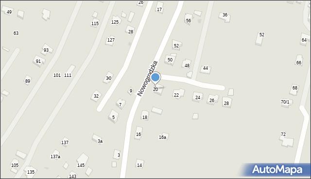 Rzeszów, Nowogrodzka, 20, mapa Rzeszów