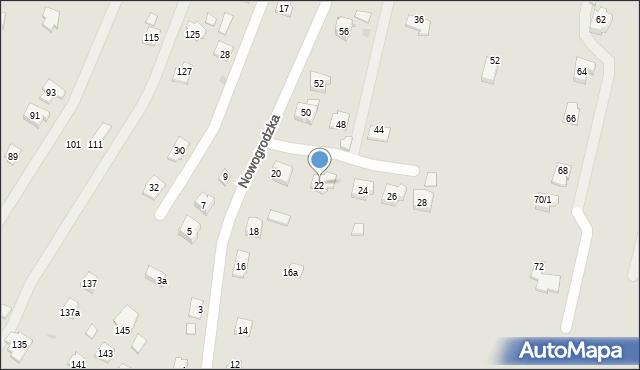 Rzeszów, Nowogrodzka, 22, mapa Rzeszów