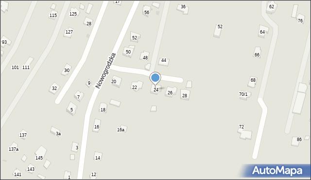 Rzeszów, Nowogrodzka, 24, mapa Rzeszów