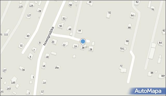 Rzeszów, Nowogrodzka, 26, mapa Rzeszów
