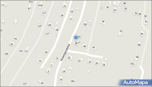 Rzeszów, Nowogrodzka, 50, mapa Rzeszów